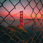 Golden Gate Caged Poster
