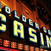 Golden Gate Casino Poster by John Rizzuto