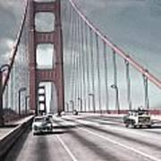 Golden Gate Crossing Poster by Eric  Bjerke Sr