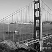 Golden Gate In Bw Poster