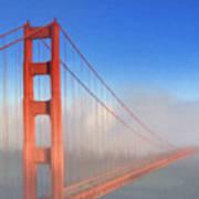 Golden Gate In Morning Fog Poster