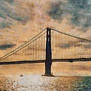 Golden Gatepost Poster