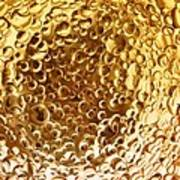 Golden Glass Bubbles Poster