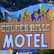 Golden Hills Motel Utah Poster