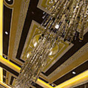 Golden Jewels And Gems - Sparkling Crystal Chandeliers  Poster