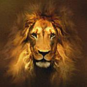 Golden King Lion Poster