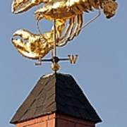 Golden Lobster Weathervane Poster