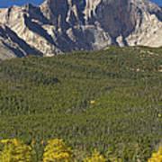 Golden Longs Peak View Poster
