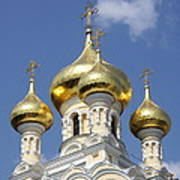 Golden Onion Domes - Church Yalta Poster