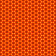 Golden Orange Honeycomb Hexagon Pattern Poster