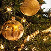 Golden Ornaments Poster