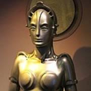 Golden Robot Lady Poster