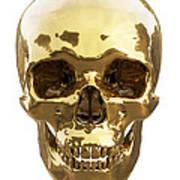 Golden Skull Poster by Vitaliy Gladkiy