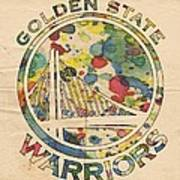 Golden State Warriors Logo Art Poster
