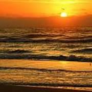 Golden Sun Up Reflection Poster