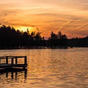 Golden Sunset Lake Horicon Lakehurst Nj Poster