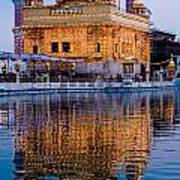 Golden Temple With Reflection Poster