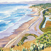 Golden View From Torrey Pines Poster
