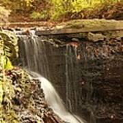 Golden Waterfall October In Ohio Poster