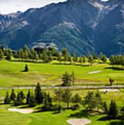 Golf Course Riederalp Valais Swiss Alps Switzerland Poster