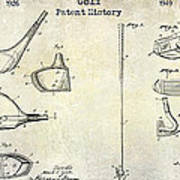 Golf Patent History Drawing Poster