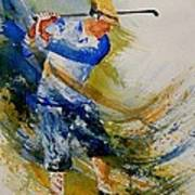 Golf Player Poster