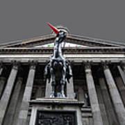 Goma Glasgow Pop Art Grey Poster