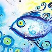 Good Luck Fish Abstract Poster