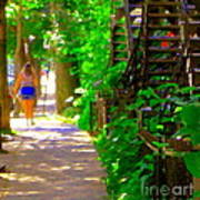 Goodbye Walking Away New Friends New Places To Visit Streets Of Verdun Montreal Art Scenes C Spandau Poster