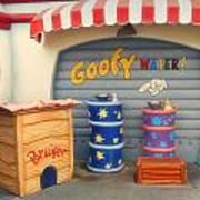 Goofy Water Disneyland Toontown Poster
