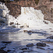 Gooseberry Middle Falls In Winter Poster