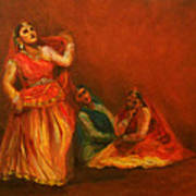 Gopis Distressed As Krishna Is Not Seen Poster