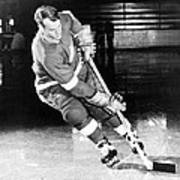 Gordie Howe Skating With The Puck Poster by Gianfranco Weiss