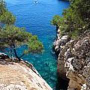 Gorge At Calanque De Port Miou In Cassis France Poster