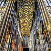 Gothic Architecture Poster by Adrian Evans