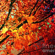 Gothic Autumn Leaves Poster
