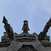 Milan Gothic Cathedral Gargoyles Poster