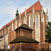 Gothic Church Of St. Catherine In Krakow Poster