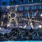 Gothic Snowflakes Poster