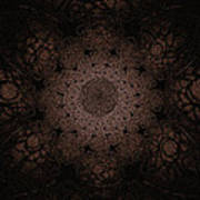 Gothic Stained Glass - Sepia Poster