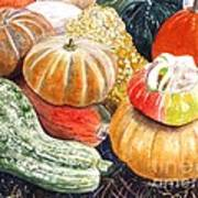 Gourds Poster by Carol Flagg