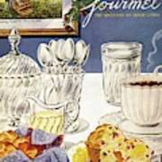 Gourmet Cover Illustration Of Cranberry Muffins Poster