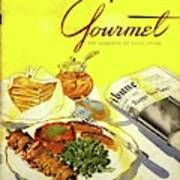 Gourmet Cover Illustration Of Grilled Breakfast Poster