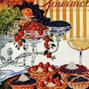 Gourmet Cover Of Fruit Tarts Poster