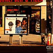 Gourmet Deli And Pizza - New York City Street Scene Poster