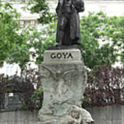 Goya Statue In Madrid Poster