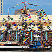 Tampa Convention Center And Gasparilla Poster