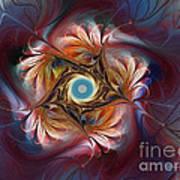 Grace And Elegance-floral Fractal Design Poster by Karin Kuhlmann