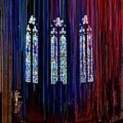 Grace Cathedral With Ribbons Poster