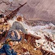 Grace Darling And Her Father Saving Poster